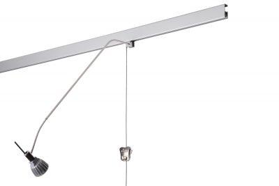 bilderschiene beleuchtung-multirail alu signo stahlseil zipper