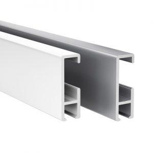 cliprail weiss und alu