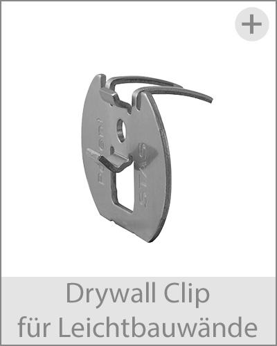 drywallclip für bilderschienen an leichtbauwaenden