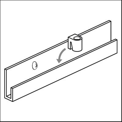 j-rail zylinderhaken