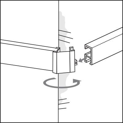 Eckverbinder Kombikappe minirail