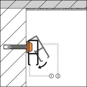 Montage bilderschiene cliprail