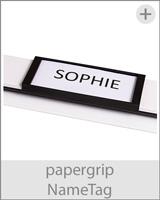 klemmschiene papergrip namensschild