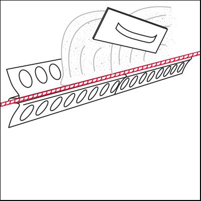 plasterrailschnur einputzschiene