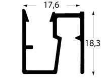 profil Deckenschiene D200